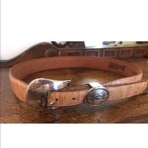 Women's Justin leather western belt